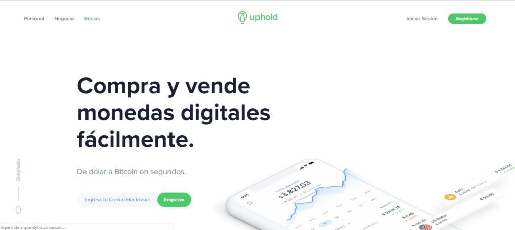 uphold: compra y venta de criptomonedas